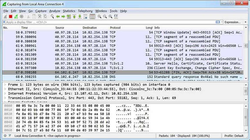 The image is a screen capture of a Wireshark Packet Capture window.